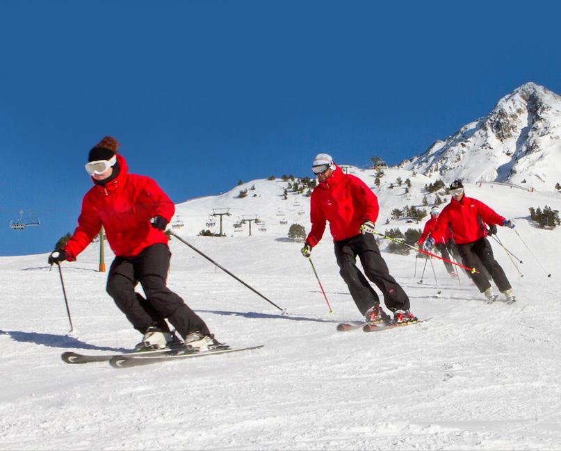 Clases de esquí alpino